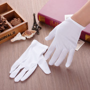 Square dance dance sailor white gloves white polyester elastic gloves etiquette jewelry store special gloves