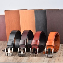 Wow! Men's leather belt leather high-end business and leisure all-match male pin buckle belt belt