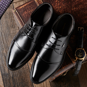 The winter with cashmere leather shoes business men's dress shoes casual shoes black pointed shoes in Korean men