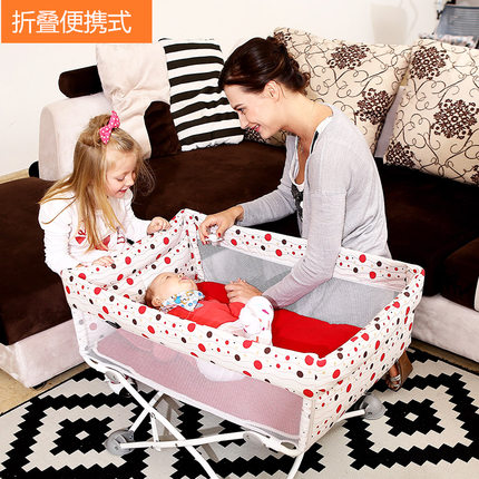 Portable baby bed, foldable travel baby bed, small bed, BB bed, mini size, simple bed