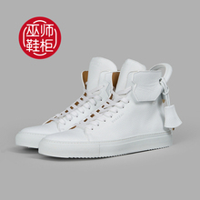 The wizard shoe / spot from Italy Buscemi 125mm 1010SU14-WHT white casual shoes