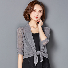 Small shawl female summer thin jacket outside wild sun protection clothing Cardigan short paragraph ladies outside jackets with air conditioning shirt