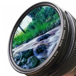 超薄ND2-400可调减光镜62mm 72mm中灰镜适用佳能与尼康18-200镜头