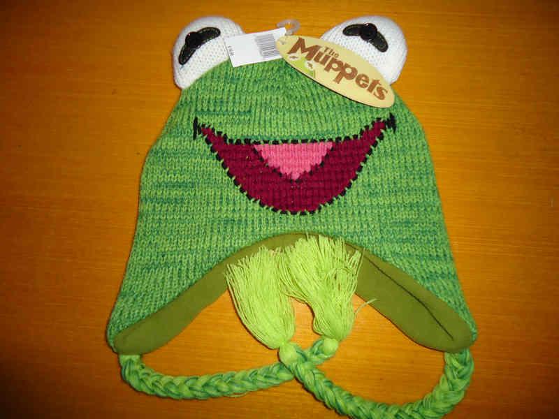 针织帽子超可爱原宿软妹童趣风立体设计感科密蛙秋冬针织卡通帽子