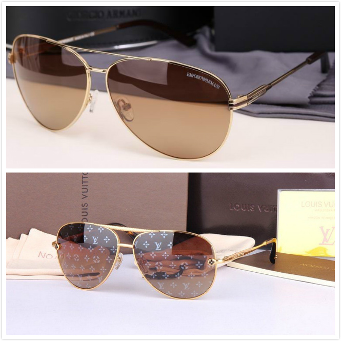 Polarizing sunglasses Armani sunglasses men's genuine female, drive frog mirror set myopia sunglasses