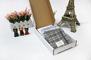 10 parkferri cotton handkerchief with gift boxes gift men's and women's yarn-dyed Plaid handkerchief