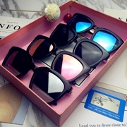 The deer Handi Lireba Yang Mi with polarizing glasses round big four star driver frame sunglasses sunglasses