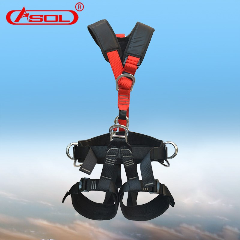 Outdoor climbing, seat belts, aerial work, air conditioning installation, body protection, climbing belts, rock climbing equipment