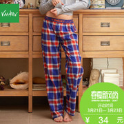 Vaakav New Cute plaid pants pants pants color Home Furnishing female spring