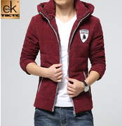 2015 autumn and winter coat in the winter coat Korean men hooded Cotton Mens winter new tide thick jacket