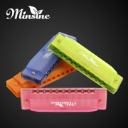 Mingsen harmonica playing musical instruments for children beginners baby color Bruce beginner Mini 10 hole harmonica