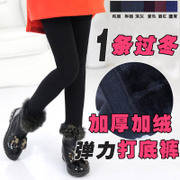 2016 girls play winter new children underwear with black velvet pants trousers trousers warm in children