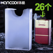 Thin transparent plastic cigarette pack soft shell with 20 sticks of cigarettes creative personality cool pressure proof cigarette box Han