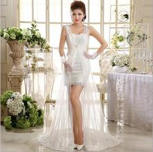 A short section of the new 2017 wedding dress wedding bride toast dress lace lace bra small tail yarn welcome