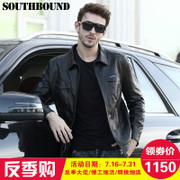 Southbound Haining Leather Men's leather motorcycle leather jacket, men's fashion lapel, spring and autumn coat