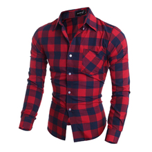2017 New Long Men Shirts Men's Slim Clothes Fit Sleeve (Shirt)