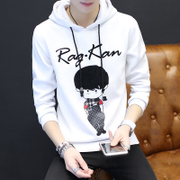Spring and autumn hoodies thin handsome men's Hooded Hoodie Hooded Jacket slim Korean students spring tide