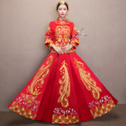 2017 new clothing Xiu he bride wedding dress gown wedding kimono costume Chinese dragon suit toast