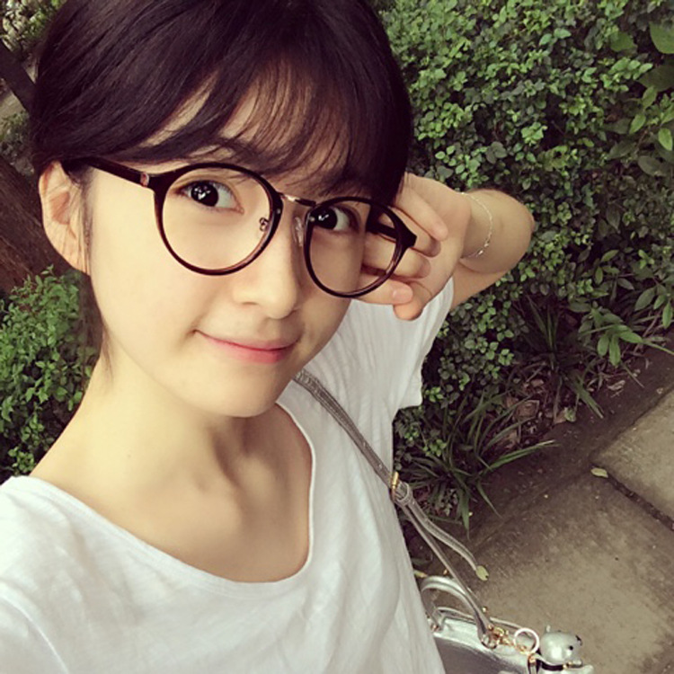 2017 retro round Chaoqing glasses frame frame Metrosexual lady lovely small fresh students of flat mirror