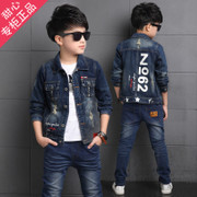 Boy 11 Jeans Set 5 boys 6 Sportswear 7 children two set 8 Fall 9 jacket 10 year old 12
