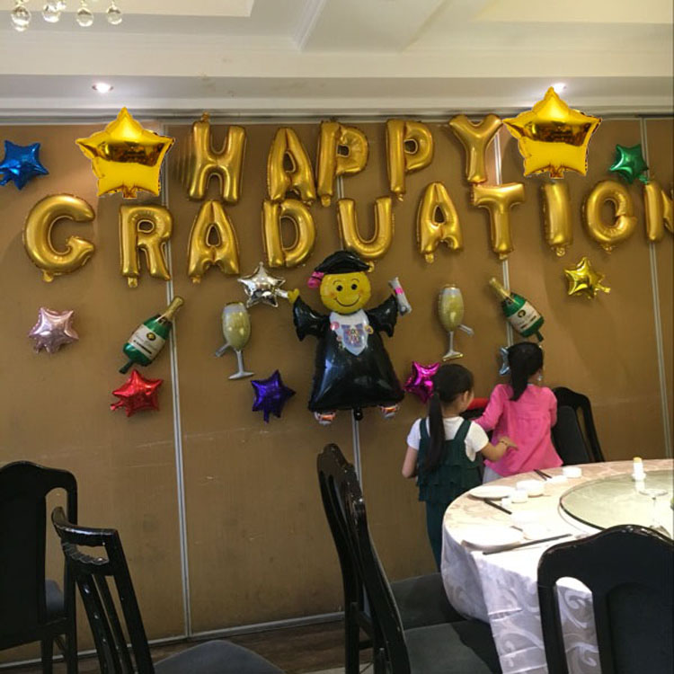 Graduation party reunion party school activities balloon decoration hotel thank teacher feast letter package