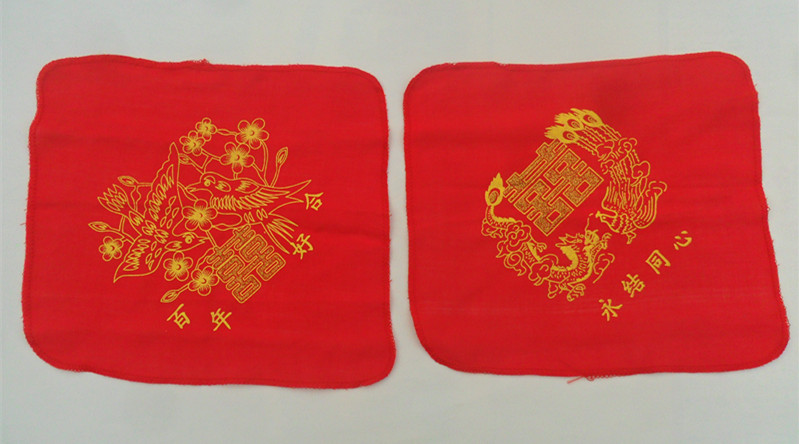 The red handkerchief red cloth handkerchief xi In extremely good fortune happy character wedding wedding supplies