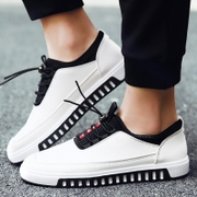 In the spring of 2017 new men's loafers Korean white shoes all-match fashion shoes casual shoes shoes fall