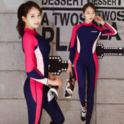 Diving suit long sleeved sun swimsuit female conjoined Korean swimming jellyfish drift snorkeling surf clothing male body suit