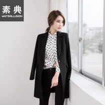 2017 in spring new Korean version of casual long sleeve slim long skinny little Blazer ladies small suit the tide