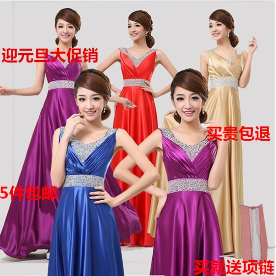 New year chorus solo chorus costume suit women dress clothing ladies chorus banquet evening dress performance wear