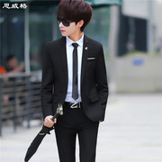 Men's suits young slim Korean Autumn Wedding groomsman Prom Dress three piece suit occupation