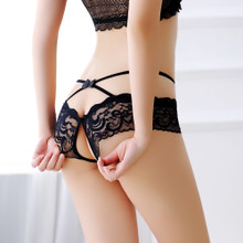 New sexy lingerie lace open crotch panties, madam temptation, fat MM Sao sexy womens open dew.