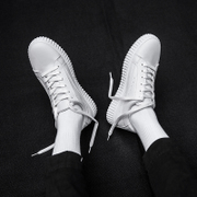 The fall of men's shoes white shoes shoes 2017 new trend of Korean all-match white male thick white shoe bottom shoes