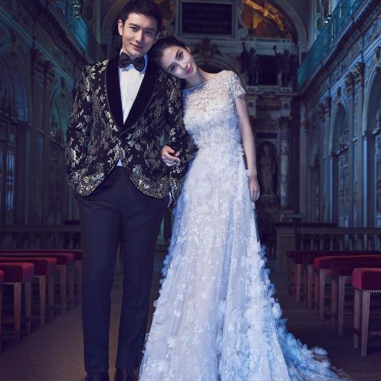2015 winter stars with baby sweet flower bride wedding toast han edition cultivate one's morality dress custom