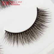Superior to pure hand-made cotton stalk soft eyelashes thick natural cross makeup nude make-up 3D stereo false eyelashes