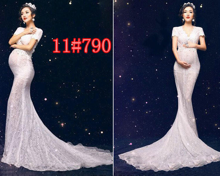 Han edition studio maternity 2017 pregnant women to portray the new clothes Lace pregnant women clothing pictures mummy photography