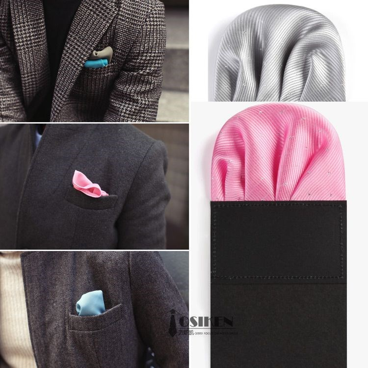 Men's suit suit pocket towel The wedding dress chest towel Plug-in convenient handkerchief pocket square Flower arranging pocket towel