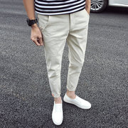Male pants spring 2017 new trend all-match young Korean casual pants slim student pants nine feet