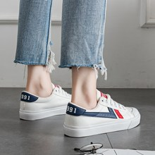 2018 spring new canvas shoes female students Korean version of Harajuku ulzzang shoes street shooting white shoes wild shoes