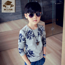 Childrens clothing childrens long sleeve t-shirt boys printed t spring Korean baby shirts at the end of 2017 new leisure boom