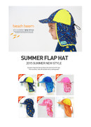 Children's sunscreen neckguard Beach Hat Cap beach UV visor cap play devil cloak swimming cap