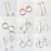 925 sterling silver jewelry earrings Korean version imitation pearl earrings ear clip earrings earrings and all-match temperament