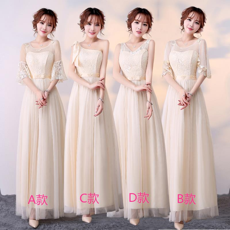 Bridesmaid clothes 2017 new Bridesmaid regiments fashion Korean version of the Korean plate