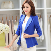 Santo NI 2015 spring new little suits with long sleeves womens blouses short bi-Korean slim flouncy little suit