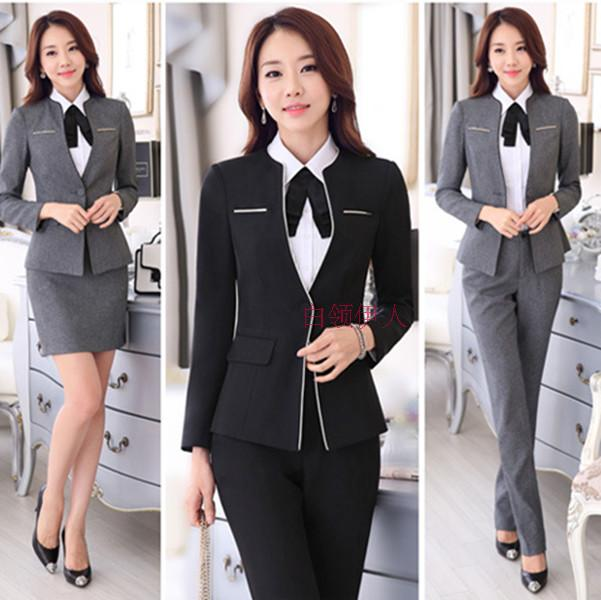 Career dress pants woman interview suit Office dress sales teacher uniforms of the hotel beauty dress