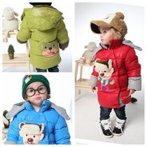 Super doll baby winter clothing for boys and girls long children in cotton-padded clothes baby clothes warm wool coat