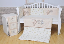 Pure removable clothesline cotton baby bedding quilt set of 7