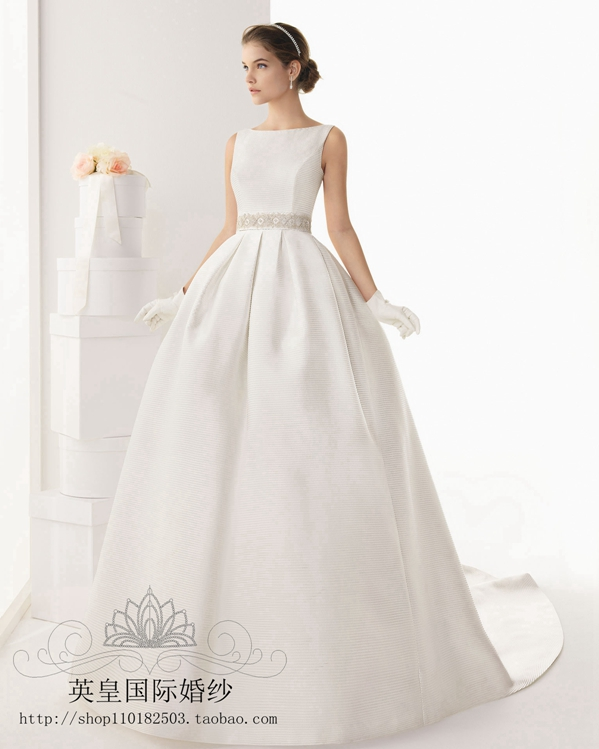 In the spring of 2017 new high-end Korean foreign trade drain back his tail length bride wedding dress special offer