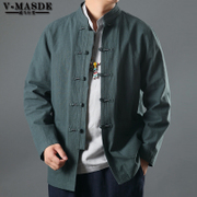 Chinese linen jacket costume wind male national costume middle-aged Chinese leisure suit jacket