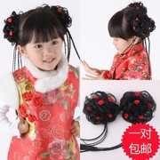 With a small plait hair headdress dance bud on the price of hair hair wig costume accessories handmade children children